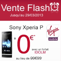 Bon plan Virgin Mobile : Sony Xperia P en promotion
