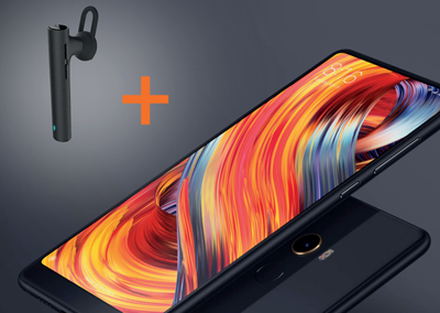 photo du xiaomi mi mix 2 avec l'oreillette bluetooth offerte
