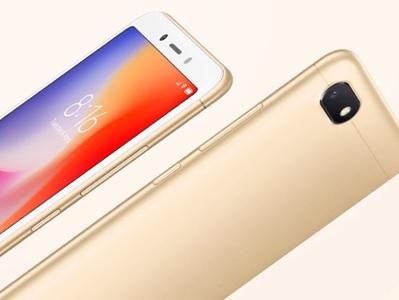 smartphone xiaomi redmi 6A couleur or avec la face avant et la face arrière