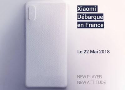 L'affiche Xiaomi débarque en France du compte Twitter