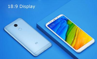 Le Xiaomi Redmi 5 de dos et de face