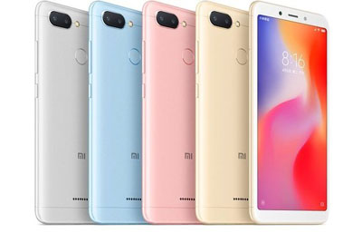 Les coloris du Xiaomi redmi 6