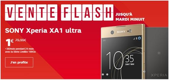 Vente flash SFR  : les Sony Xperia mis à l'honneur ce Week-end chez l'opérateur