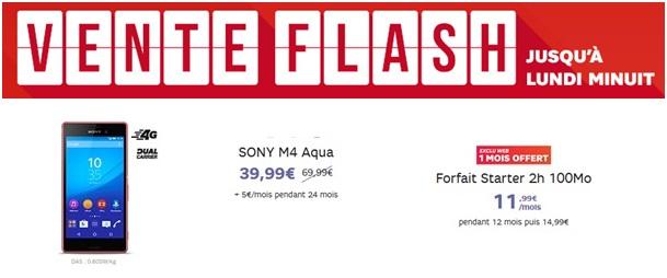 vente flash sfr xperia M4 aqua
