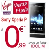 Vente Flash Virgin Mobile : le Sony Xperia P à 0,99€
