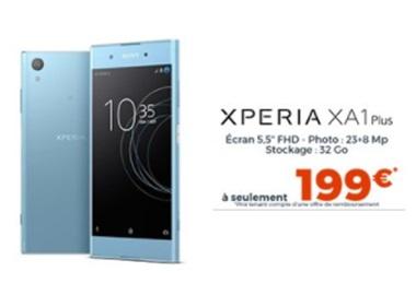 Top affaire : le Sony Xperia XA1 Plus à 199 euros chez Cdiscount