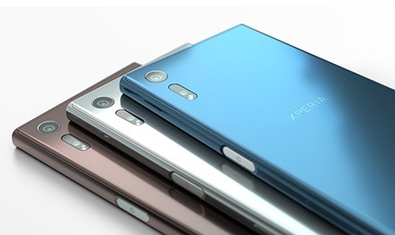 Sony Xperia XZ vue de dos en 3 coloris