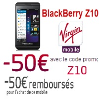 Virgin Mobile promotion Blackberry Z10