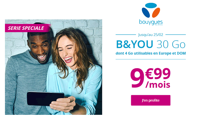 promo forfait b  and you