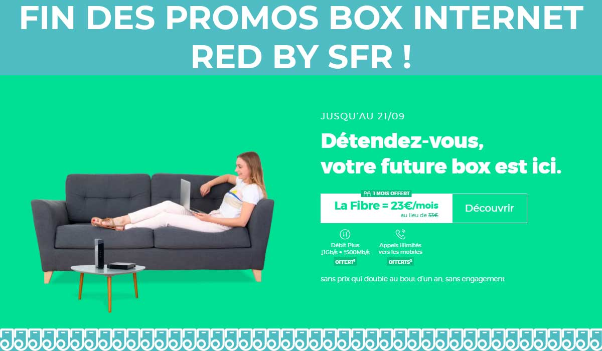 promo box internet sans engagement red by sfr