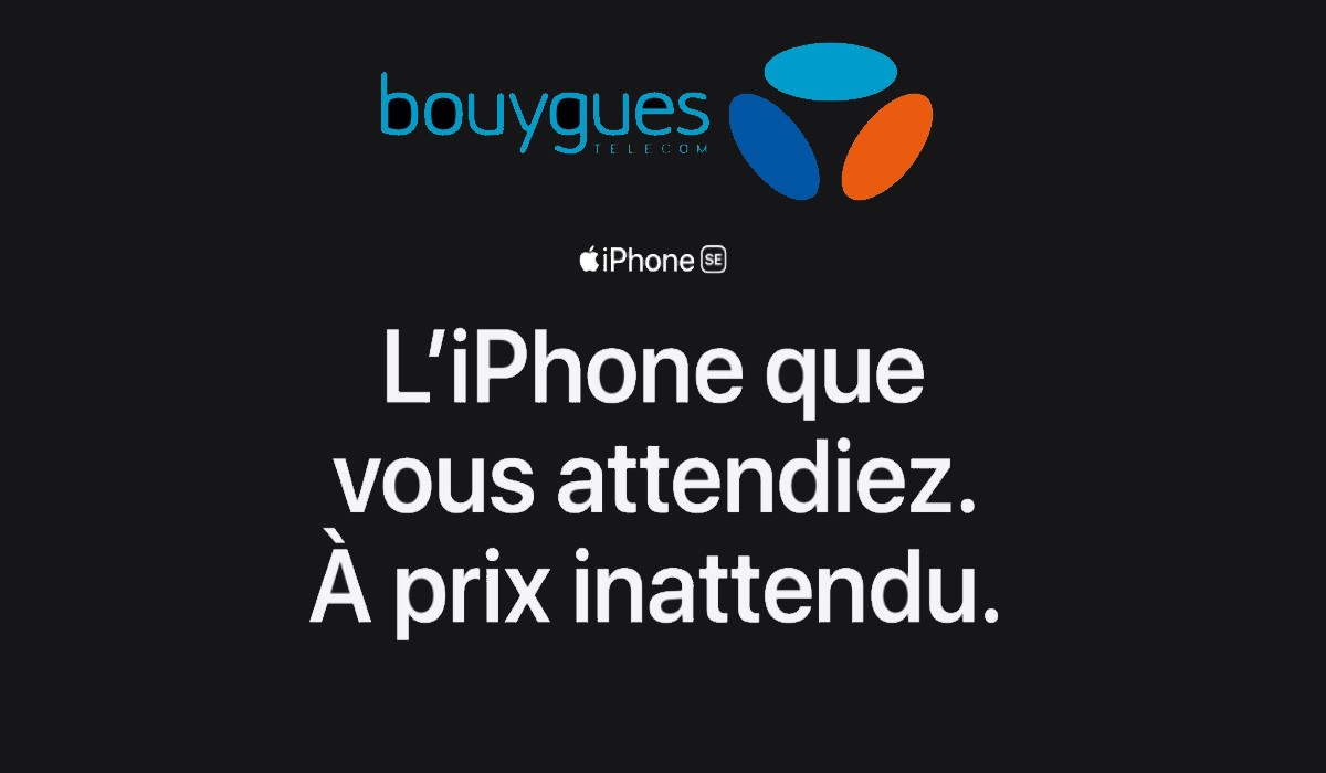 iPhone SE Bouygues Telecom