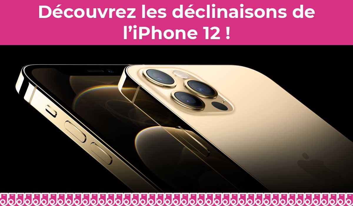 déclinaisons de l'iphone 12
