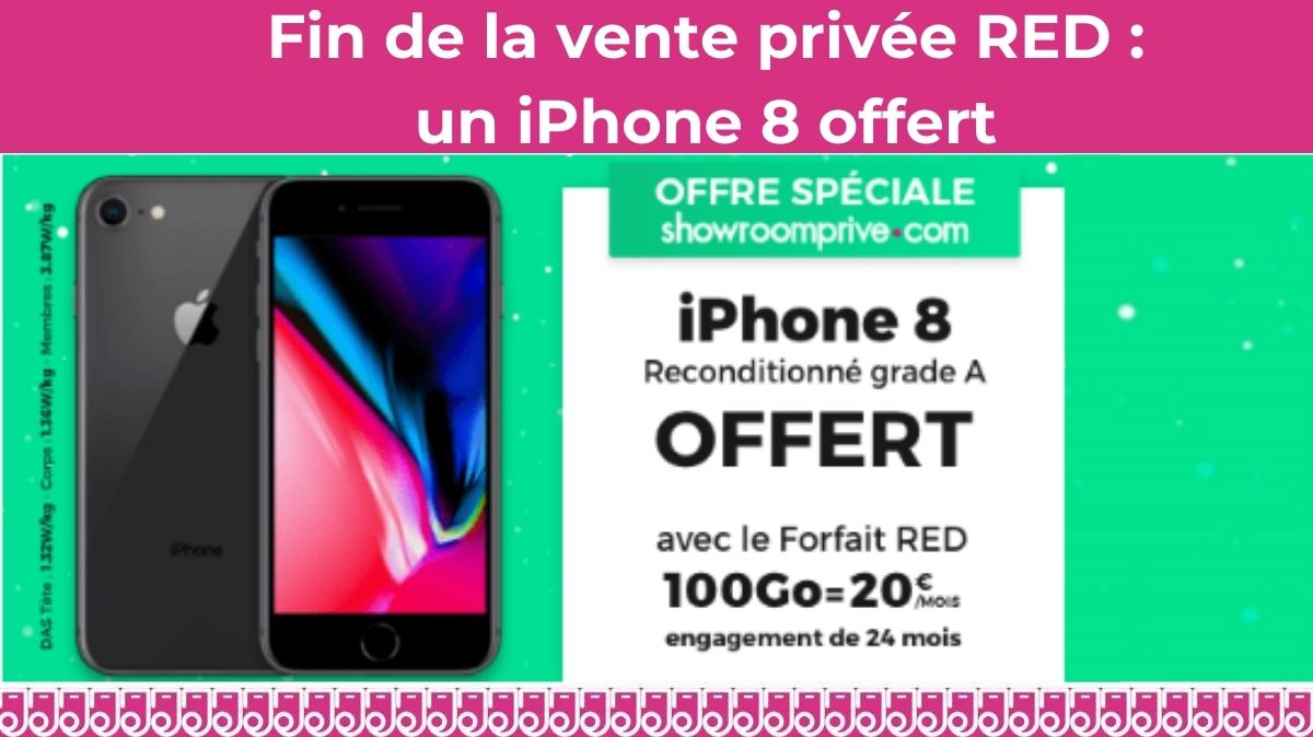 vente privee red iphone 8 offert
