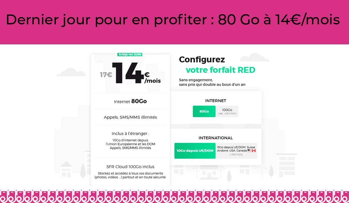 Forfait mobile personnalisable RED fin promo