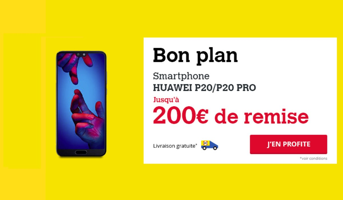 visuel promo Huawei p20 Darty