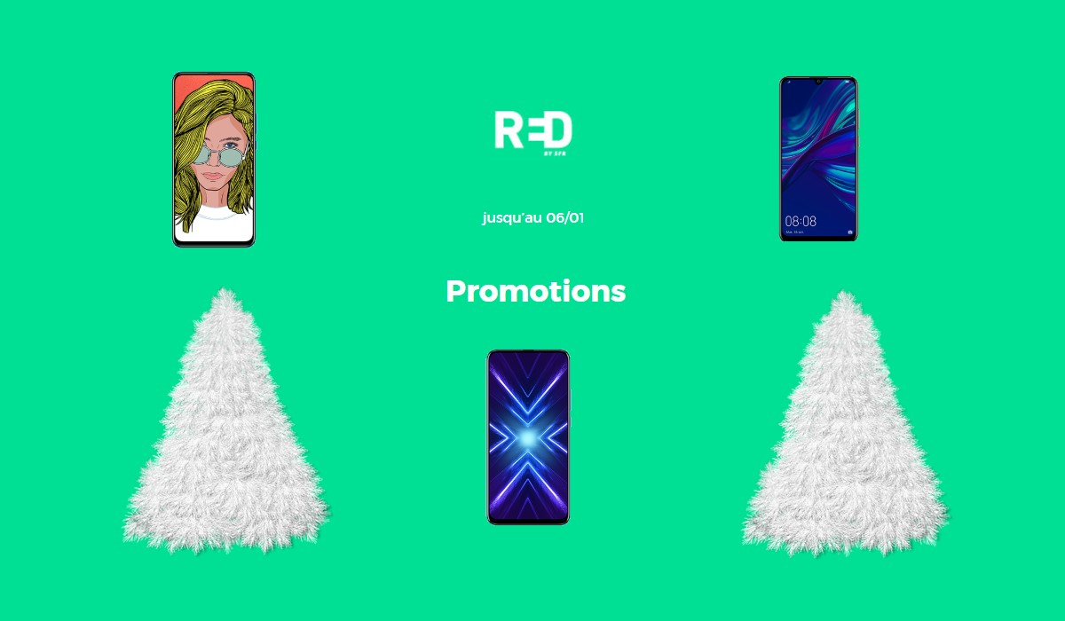 3 smartphones en promotions chez RED by SFR
