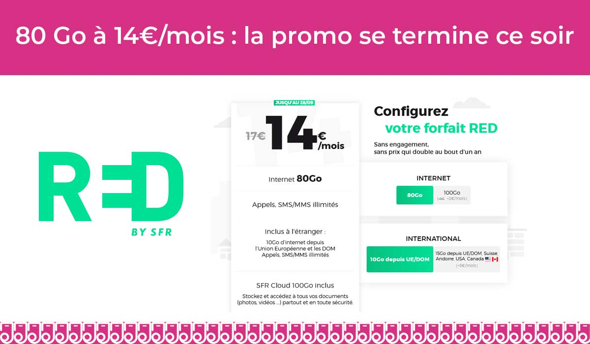 Promo red forfait mobile pas cher