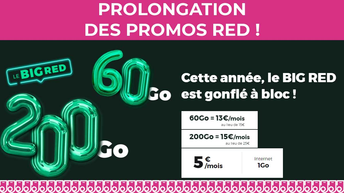 prolongation red by sfr