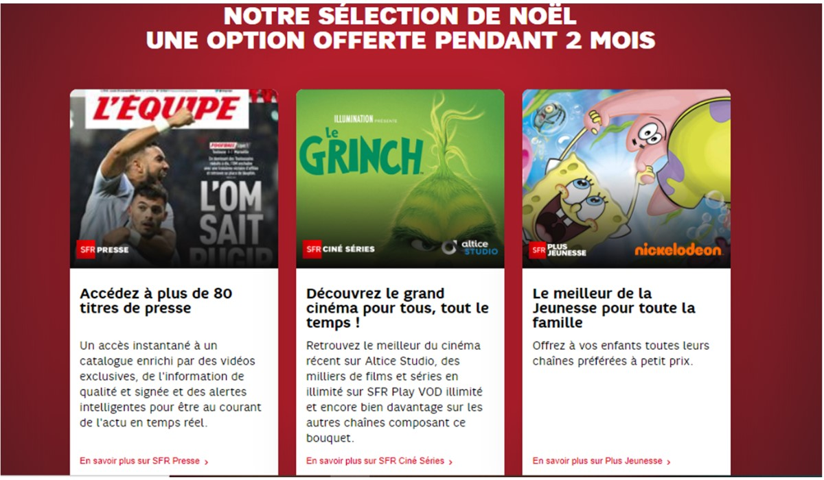 options sfr offertes 2 mois
