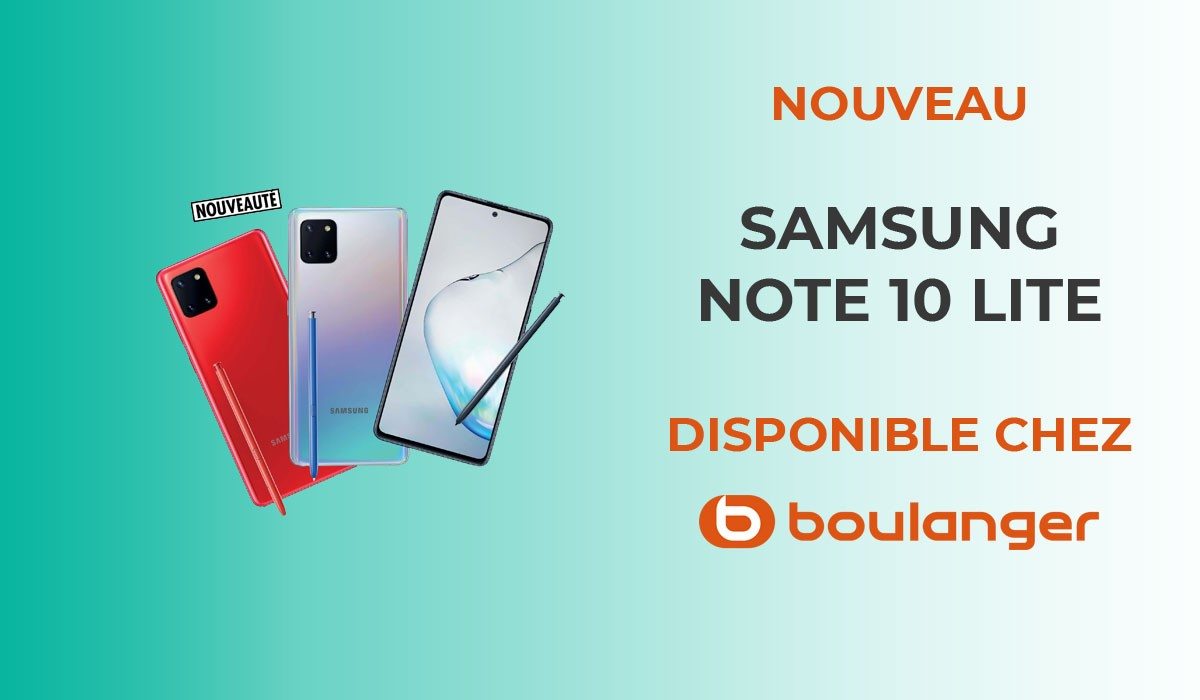 Samsung galaxy note 10 lite vue de face