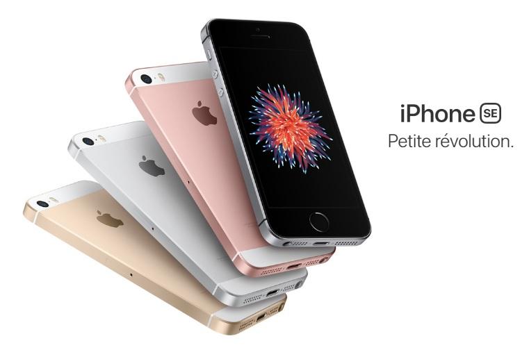 4 coloris iPhone SE