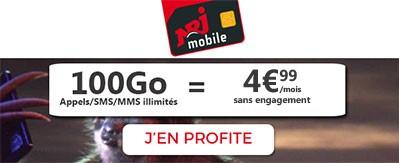 100go moins de 5 euros forfait