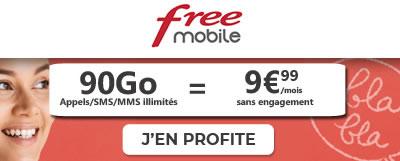 Forfait Free Mobile 90Go