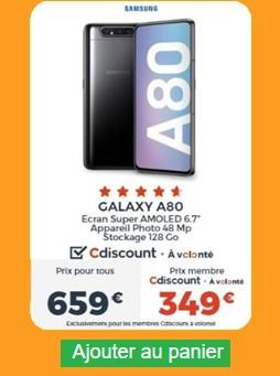 Galaxy A80 Cdiscount