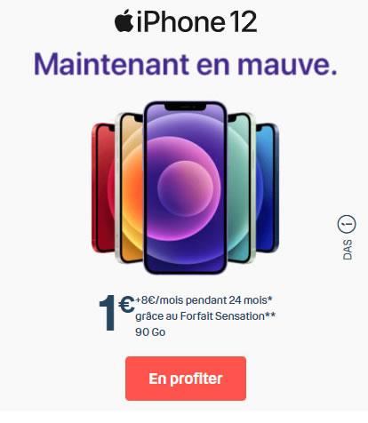 iPhone 12 Mauve Bouygues dès 1€