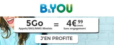 Forfait 5Go B&You à 4,99 euros