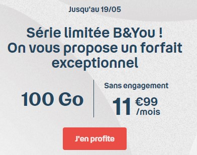 B&You offre exeptionnelle 100 Go
