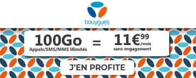 Forfait B&You 100 Go en promotion