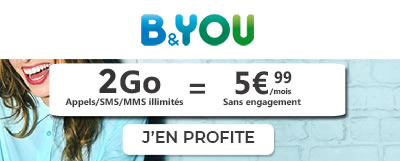 Forfait 2Go B&You à 5,99€