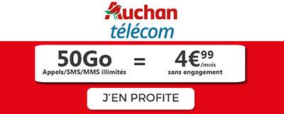 Auchan Telecom promo 50Go