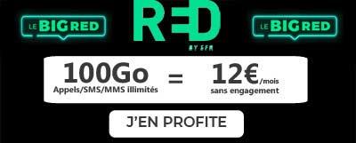 Forfait BIG RED 100Go à 12 euros