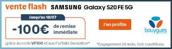 Vente flash Samsung S20 FE 5G Bouygues Telecom