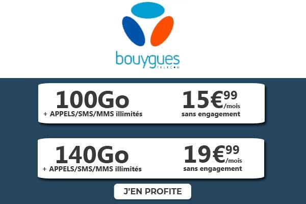 Forfaits maxi data Bouygues bandyou
