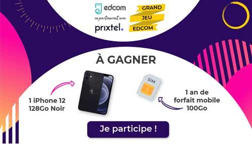 jeu concours edcom iphone 12 à gagner