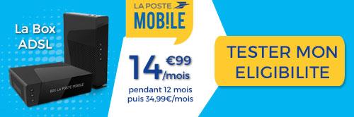 Test éligibilité de l'ADSL chez La Poste Mobile