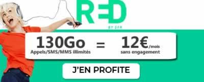 Forfait RED 130 Go à 12 euros
