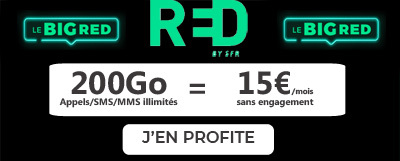 forfait mobile RED 200Go