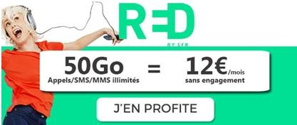forfait RED 50Go à 12 euros