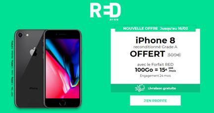 vente privée red iphone 8