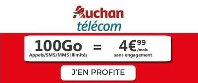 Forfait 100Go Auchan