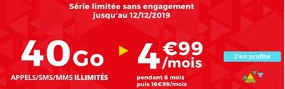 Série spéciale Auchan 40Go à 4,99 euros