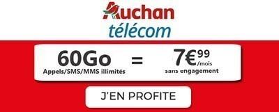 Souscrire au forfait Auchan Telecom en promo