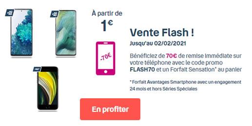 Vente Flash 70€ Bouygues Sensation