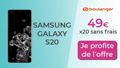 Galaxy S20 Boulanger