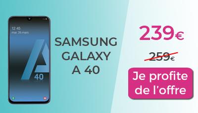 Samsung Galaxy A40 à 239€ chez Boulanger