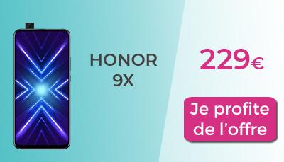 Honor 9x 229€ chez Boulanger
